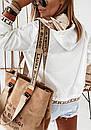 Женская мастерка из зеркальной плащевки на молнии и с капюшоном, до 52 р 73sv864, фото 3
