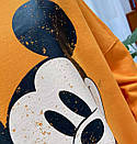 Женский свободный свитшот оверсайз с рисунком Микки и размере универсальном 68sv872, фото 6