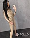 Женский замшевый комбинезон с молнией и длинными рукавами, размер единый 42-44 17ks1108, фото 5
