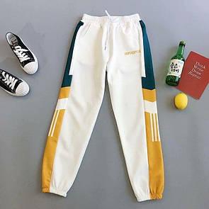 Женские спортивные штаны из дайвинга с лампасами 78bu516