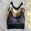 Трикотажный спортивный женский топ с чашками пуш ап 68ma378, фото 6