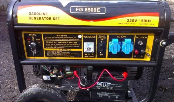 Бензиновая электростанция Forte FG6500E
