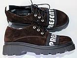Туфли женские из натуральной замши от производителя модель ОУ9010, фото 2