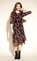 Zaps осінь-зима 2021. Легке жіноче плаття міді Clea 004 чорний
