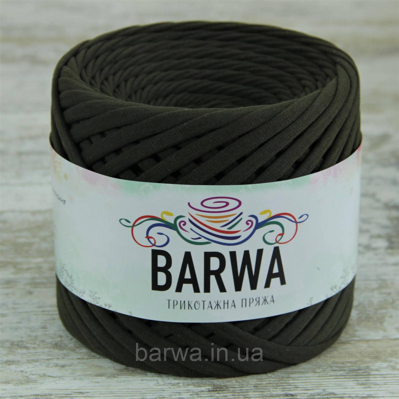 Трикотажная пряжа BARWA light 5-7 мм, цвет Милитари ( темный хаки)