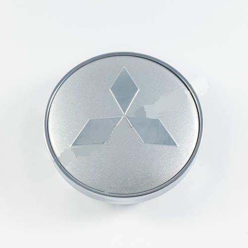 Колпачок для диска   Mitsubishi серебро/хром лого (60 мм)