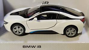 Детская металлическая машинка BMW i8 1:32 метал белый, фото 2