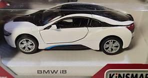 Детская металлическая машинка BMW i8 1:32 метал белый, фото 3