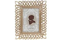 Рамка для фото прямоугольная 23см, цвет - состаренное золото, размер фото - 10*15см, фото 1