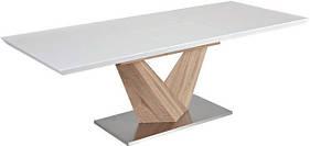 Стол обеденный деревянный ALARAS 140×85(200) Signal белый