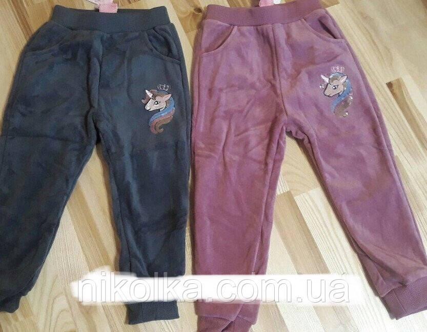 Велюровые утепленные брюки для девочек оптом, F&D, 1-5 лет,  арт. YF-8517