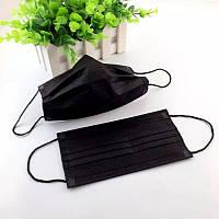 Защитная маска с угольным фильтром (черная)