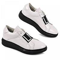 Туфли кроссовки кожаные для девочки школьная обувь белые