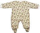 Человечек на девочку рост 62 2-3 мес для новорожденных малышей слип детский велюровый молочный, фото 2