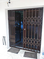 Раздвижные решетки коричневые, фото 2