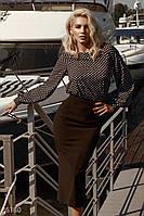 Свободная блуза в гороховый принт XS,S,M,L, фото 1