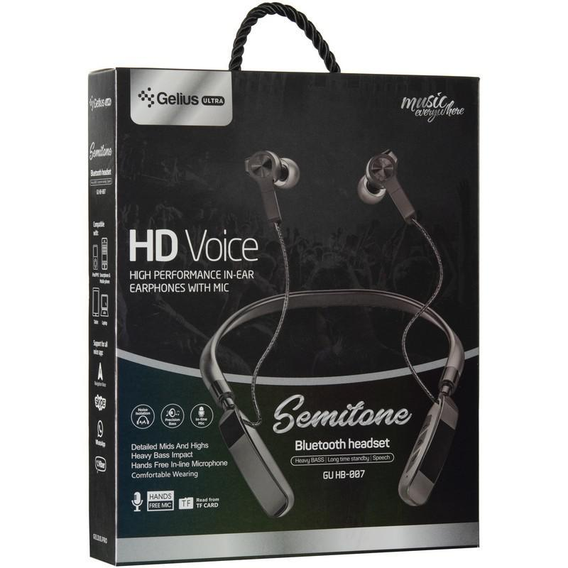 Stereo Bluetooth Headset Gelius Ultra Semitone GU-HB-007U Grey