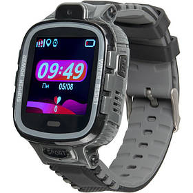 Дитячі смарт годинник з GPS трекером Gelius Pro GP-PK001 (PRO KID) Black/Silver
