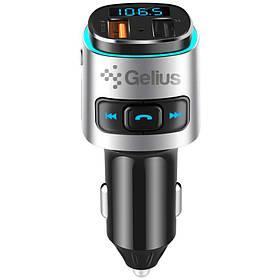 Автомобільний FM Модулятор Трансмітер Gelius Pro RGB-QC GP-FMT040 Black-Silver