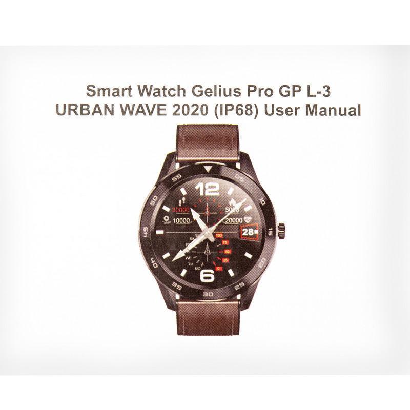 Smart Watch Gelius Pro GP-L3 (URBAN WAVE 2020) (IP68) Silver/Dark Blue