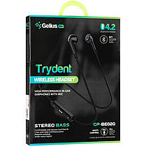 Stereo Bluetooth Headset Gelius Pro Trydent GP-BE-020 Black, фото 2