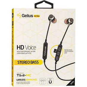 Stereo Bluetooth Headset Gelius Ultra T1v2-MC Red with memory card, фото 2