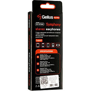 HF Gelius Ultra Symphony GU-080 White with mic + button call answering, фото 2