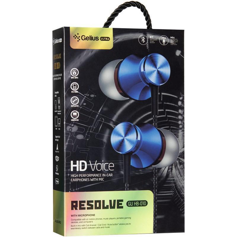 Stereo Bluetooth Headset Gelius Ultra Resolve GL-HB-010U Black