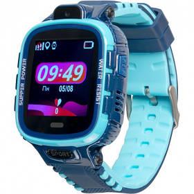 Дитячі розумні годинник з GPS трекером Gelius Pro GP-PK001 (PRO KID) Blue