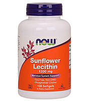 Лецитин подсолнечный (Sunflower Lecithin), 1200 мг, 100 капсул