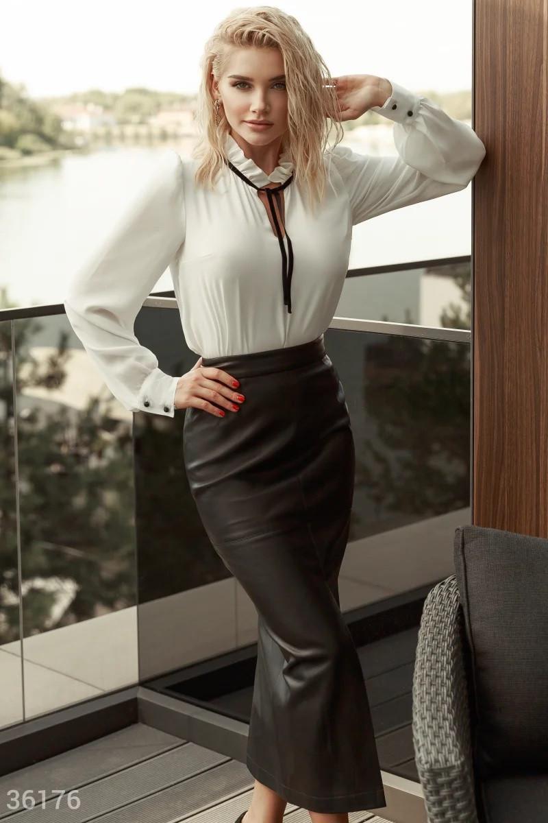 Трендовая юбка-миди с высокими разрезами XS S M L