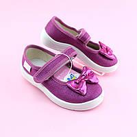 Текстильная обувь Waldi для девочки тапочки в садик размер 24,25,26,27,28,29