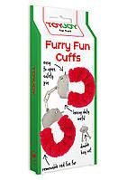 Наручники Toy Joy Furry Fun Cuffs Red Plush