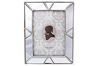 Рамка для фото прямоугольная с зеркальными вставками, 23см, размер фото - 13*18см