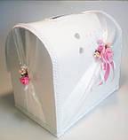 Свадебный сундучок, бело розовый., фото 2