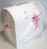 Свадебный сундучок, бело розовый., фото 3