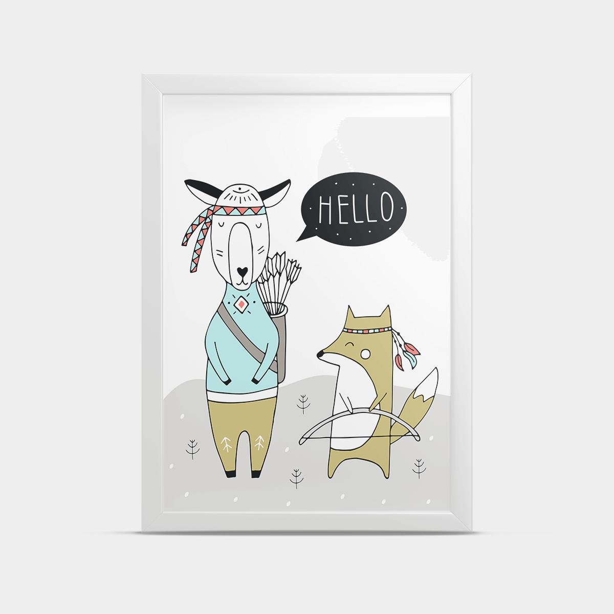 Постер Лесные звери 30*40 см