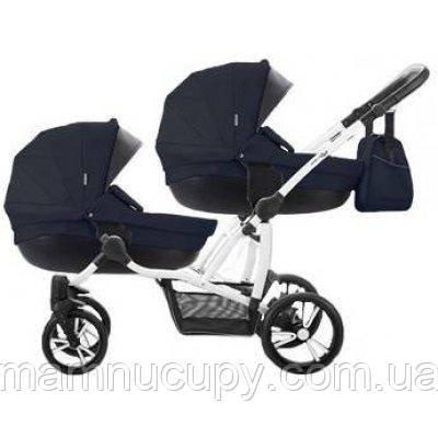 Дитяча універсальна коляска 2 в 1 для двійні Bebetto B 42 Premium New 07, Темно-синій