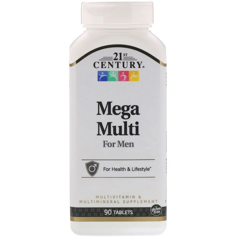 Вітаміни Mega Multi for Men Multivitamin & Multimineral 21st Century 90 таблеток