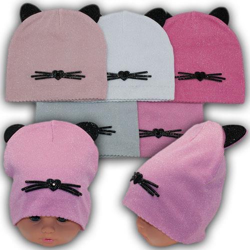 ОПТ Осенние шапки для девочек р. 42-44 (5шт/упаковка)