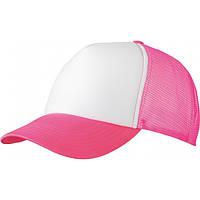 Жіноча бейсболка на літо біла з неоново-рожевий