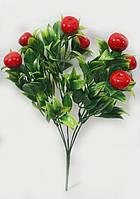 Червоний плодовий чагарник 33см штучні ягоди 2.5 см, фото 1