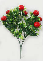 Красный плодовый кустарник 33см искусственные ягоды 2.5см, фото 1