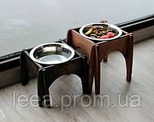 Миска-годівниця металева для собак цуценят - 1 миска 750 мл
