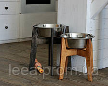 КІТ-ПЕС Миска-годівниця металева для собак цуценят - 1 миска 2800 мл WHITE