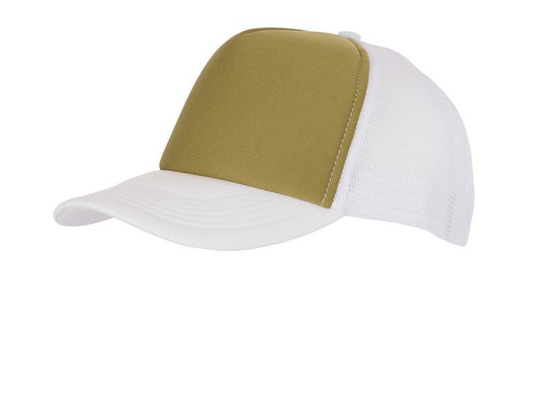Молодіжна кепка на літо з сіткою ззаду оливкова з білим