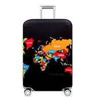Чехол на чемодан Карта путешествий RunningTiger XL Разноцветный