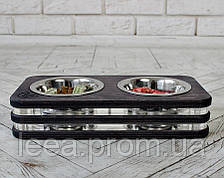 Миска-годівниця металева для цуценят собак XS - 2 миски