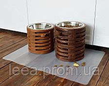 КІТ-ПЕС Миска-годівниця металева для собак цуценят - 1 миска 1700 мл