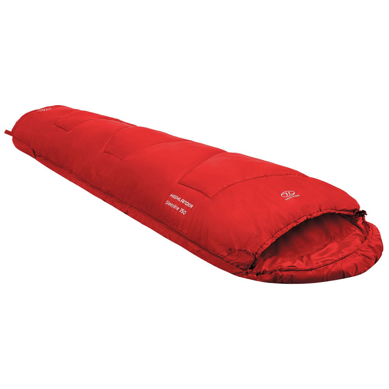 Спальный мешок Highlander Sleepline 350 Mummy/+3°C Red (Left)
